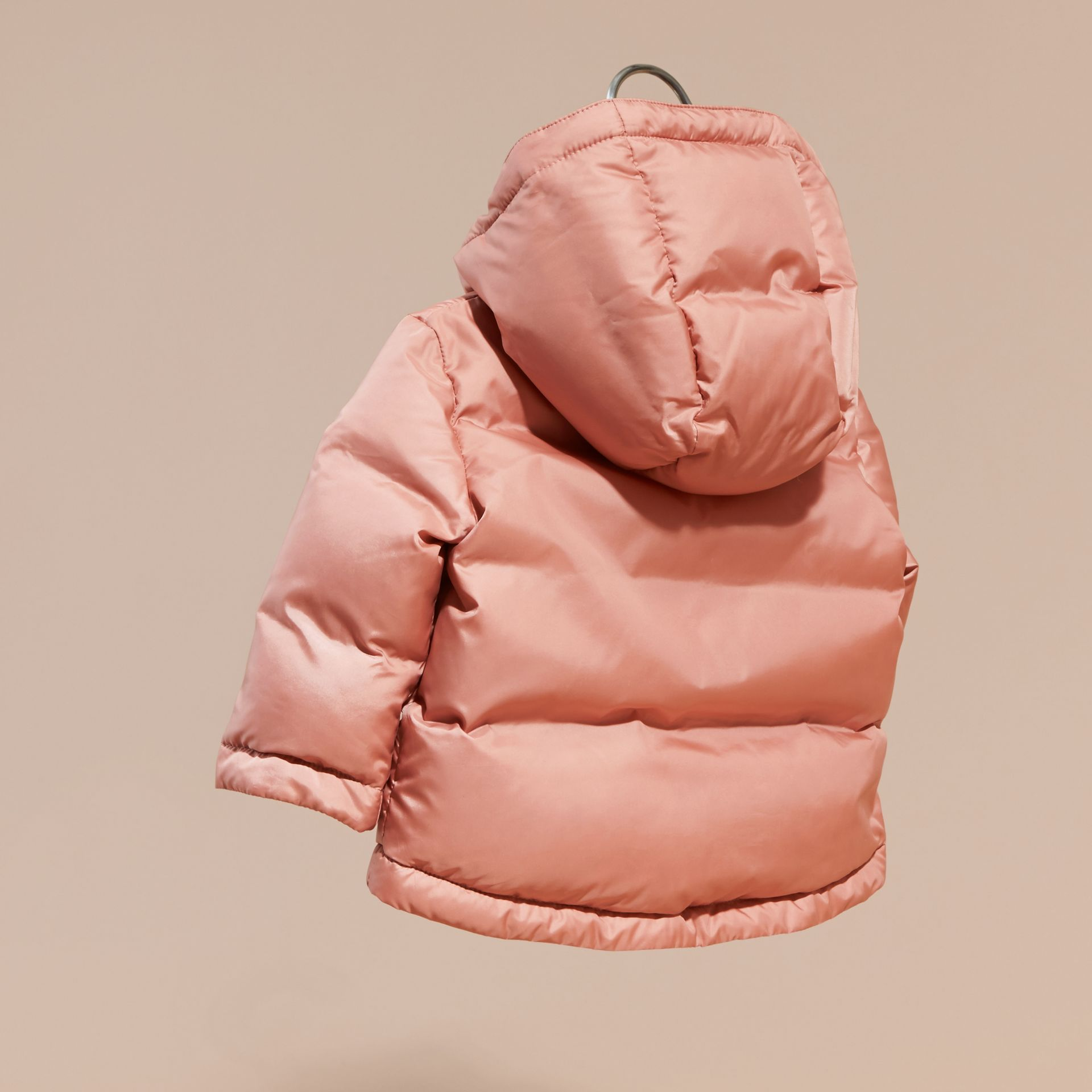 Light copper pink Reversible Puffer Coat Light Copper Pink - gallery image 4