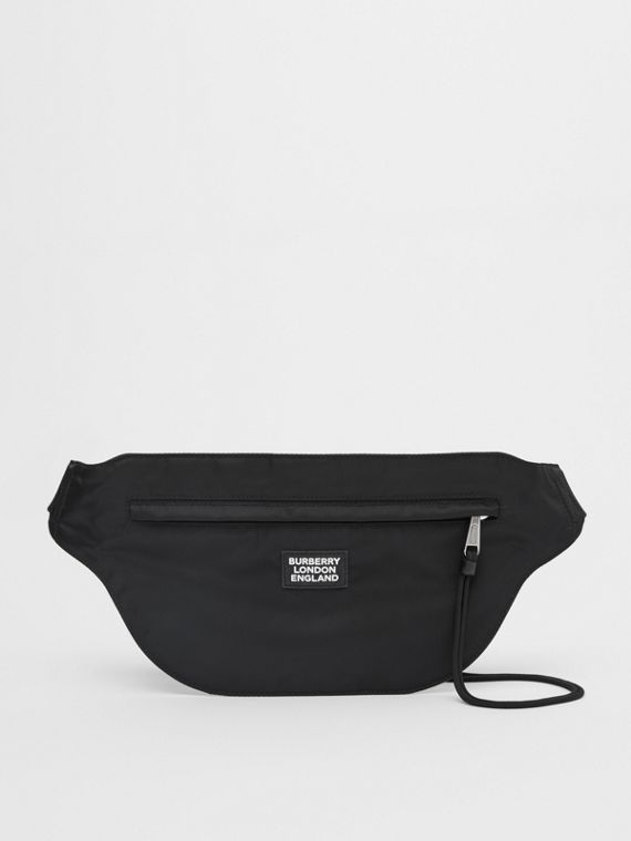 Logo Appliqué ECONYL® Brummell Bum Bag in Black
