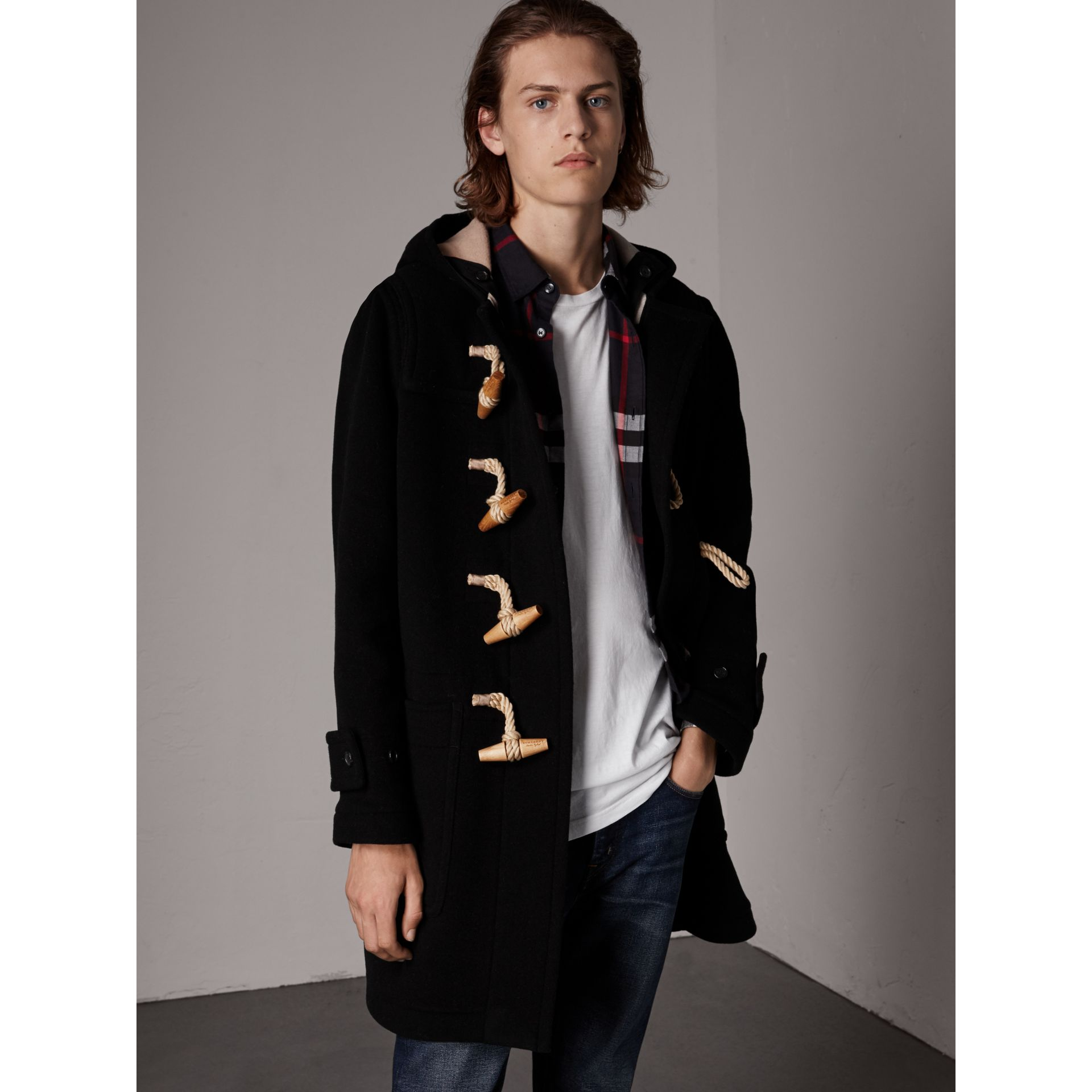 The Greenwich Duffle Coat in Black - Men | Burberry United States - gallery image 5