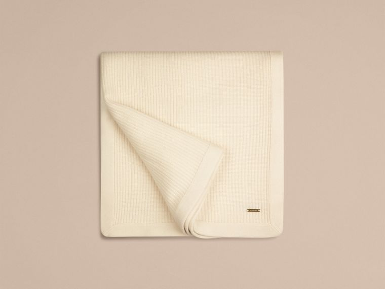 Natural white Rib Cashmere Blanket Natural White - cell image 2