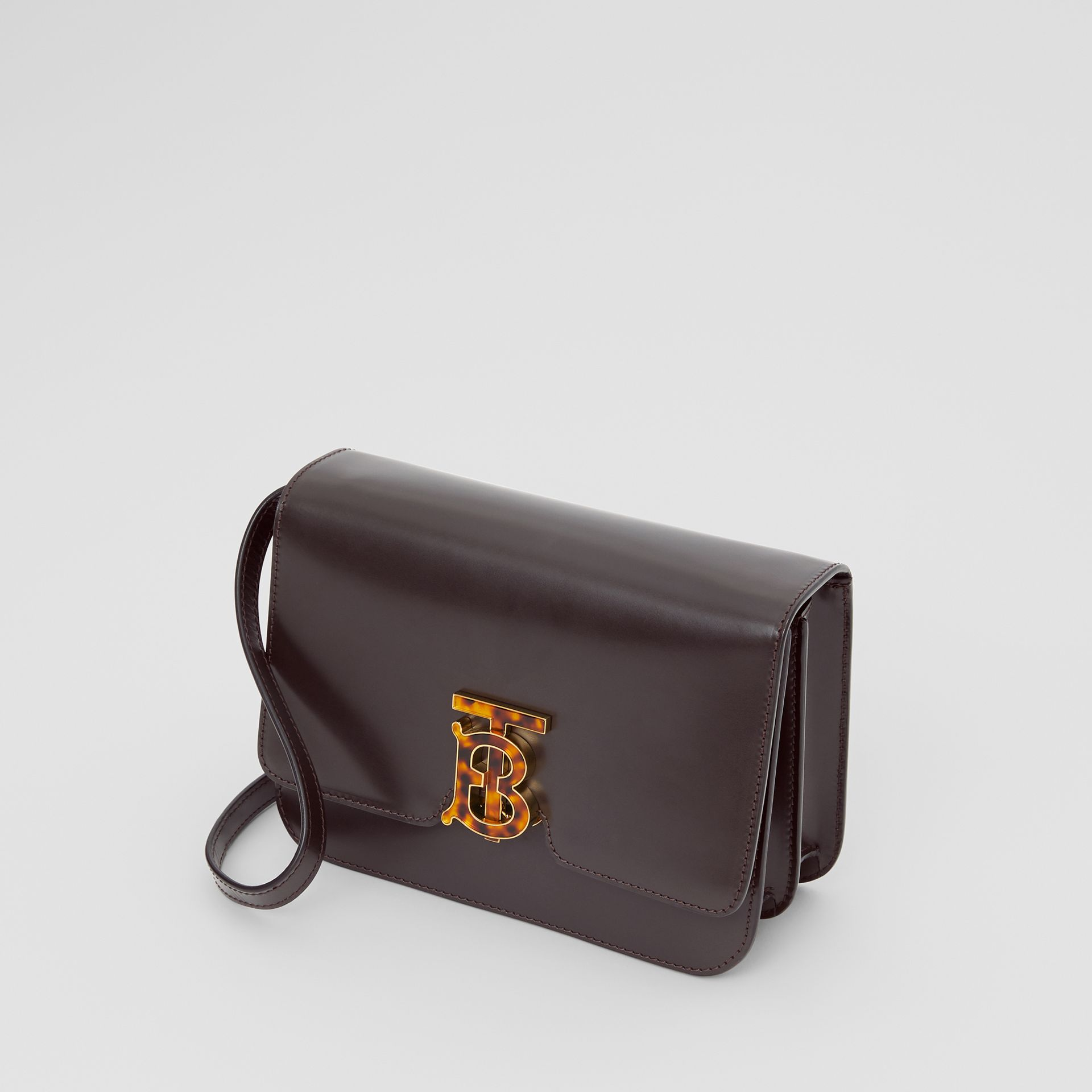 Small Leather TB Bag in Coffee - Women | Burberry - gallery image 3