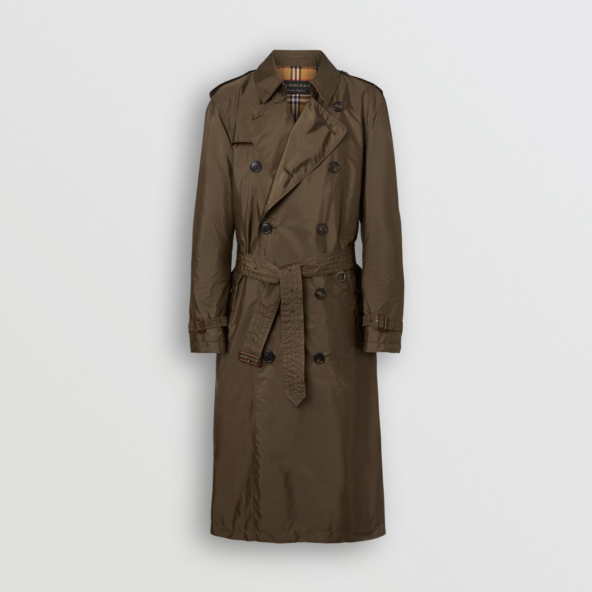 Lightweight Nylon Trench Coat in Military Green - Men | Burberry - gallery image 6