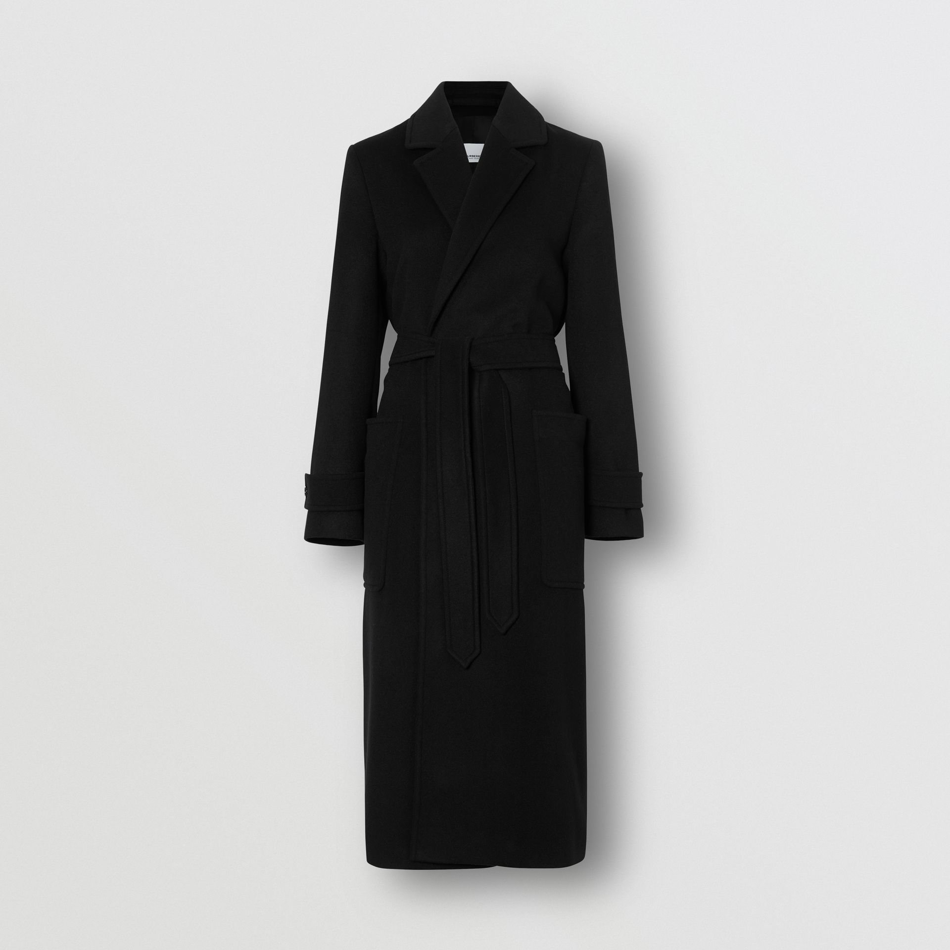 Cashmere Wrap Coat in Black - Women | Burberry - gallery image 3