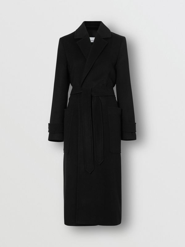Cashmere Wrap Coat in Black - Women | Burberry - cell image 3