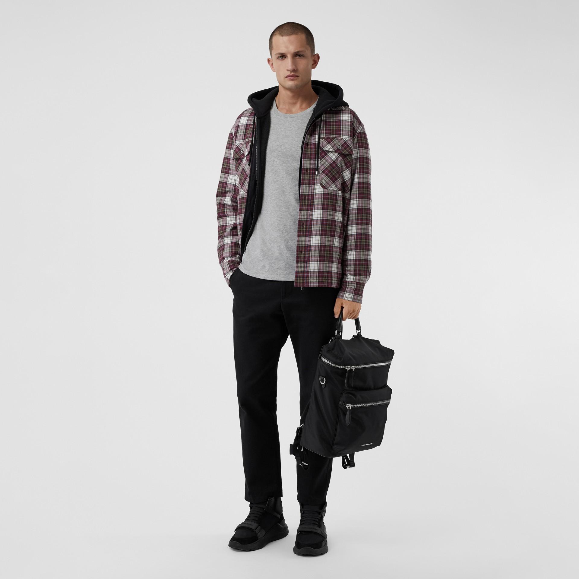 코튼 저지 티셔츠 (페일 그레이 멜란지) - 남성 | Burberry - 갤러리 이미지 0