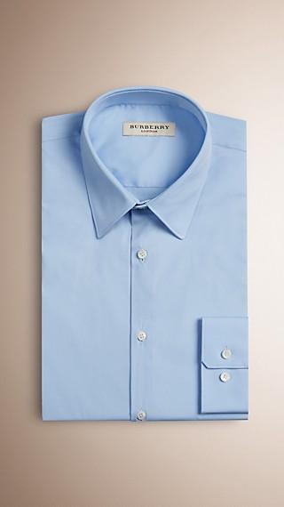Slim Fit Stretch Cotton Blend Shirt