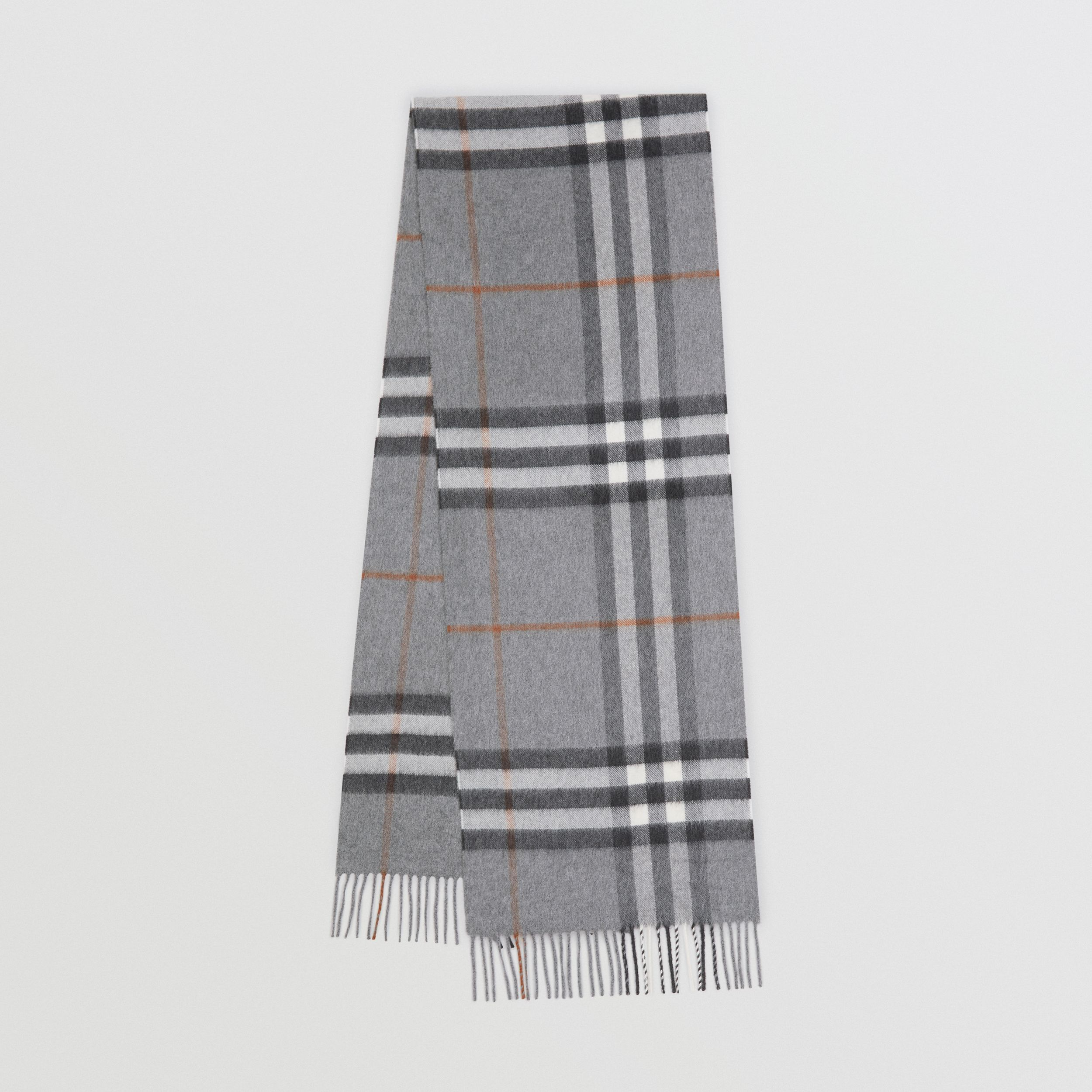 The Classic Check Cashmere Scarf in Grey | Burberry United States - 1