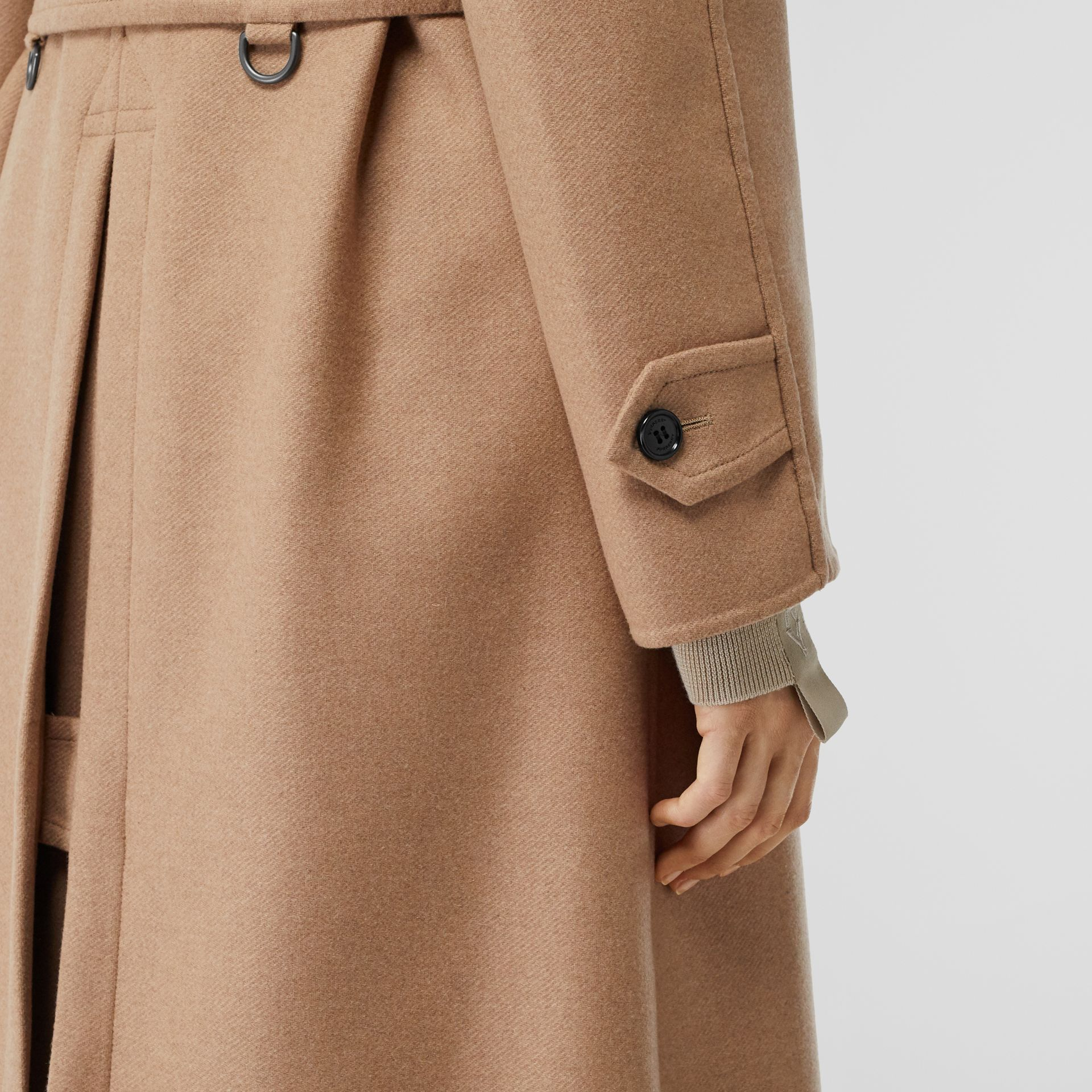 Double-faced Cashmere Trench Coat in Camel - Women | Burberry - gallery image 4