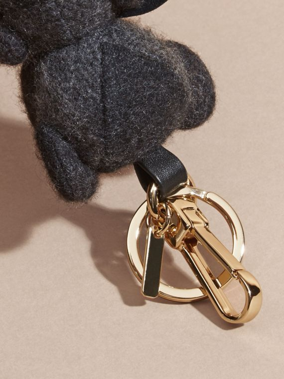 Charcoal Thomas Bear Charm in Check Cashmere Charcoal - cell image 3