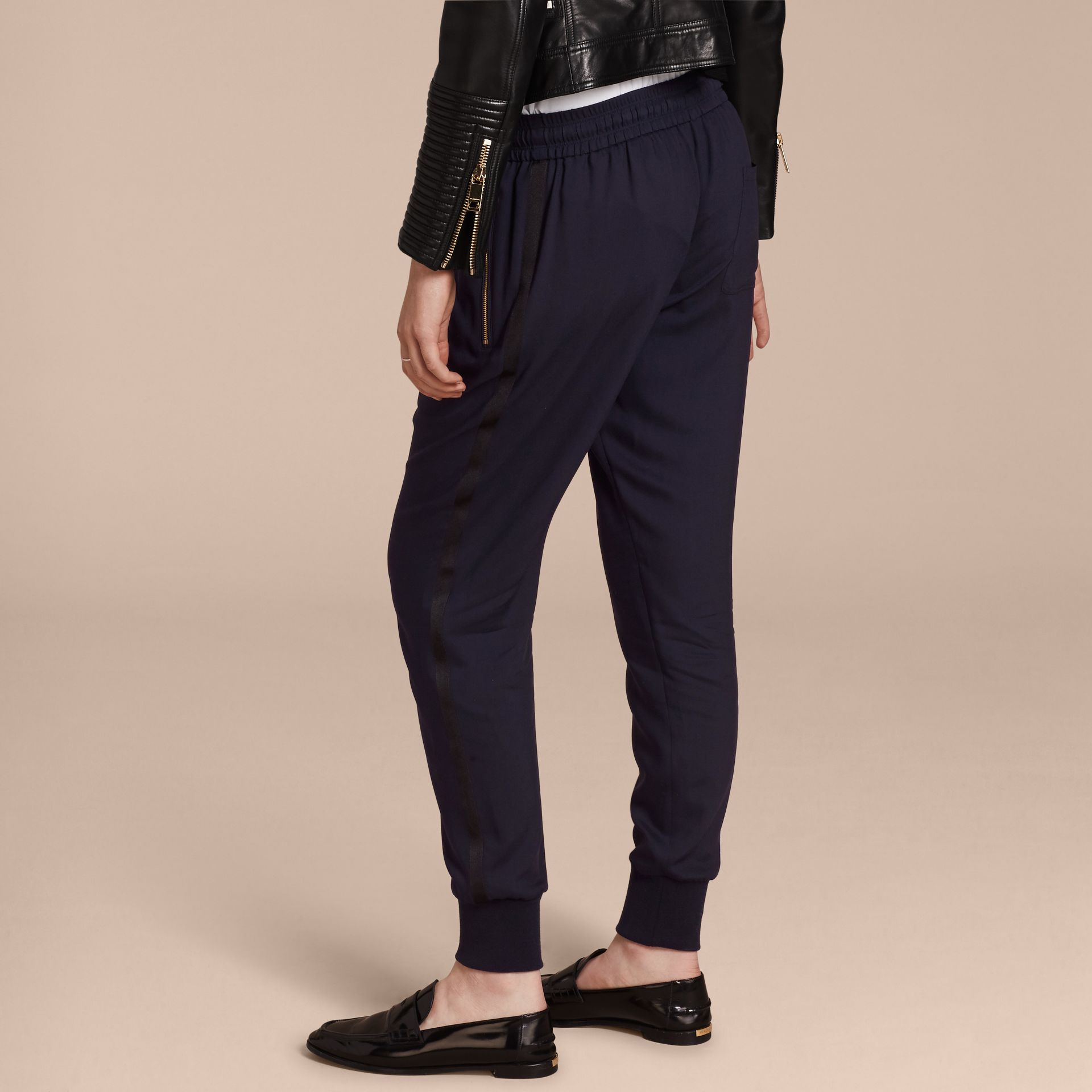 Zip Detail Jersey Sweat Pants Navy - gallery image 3