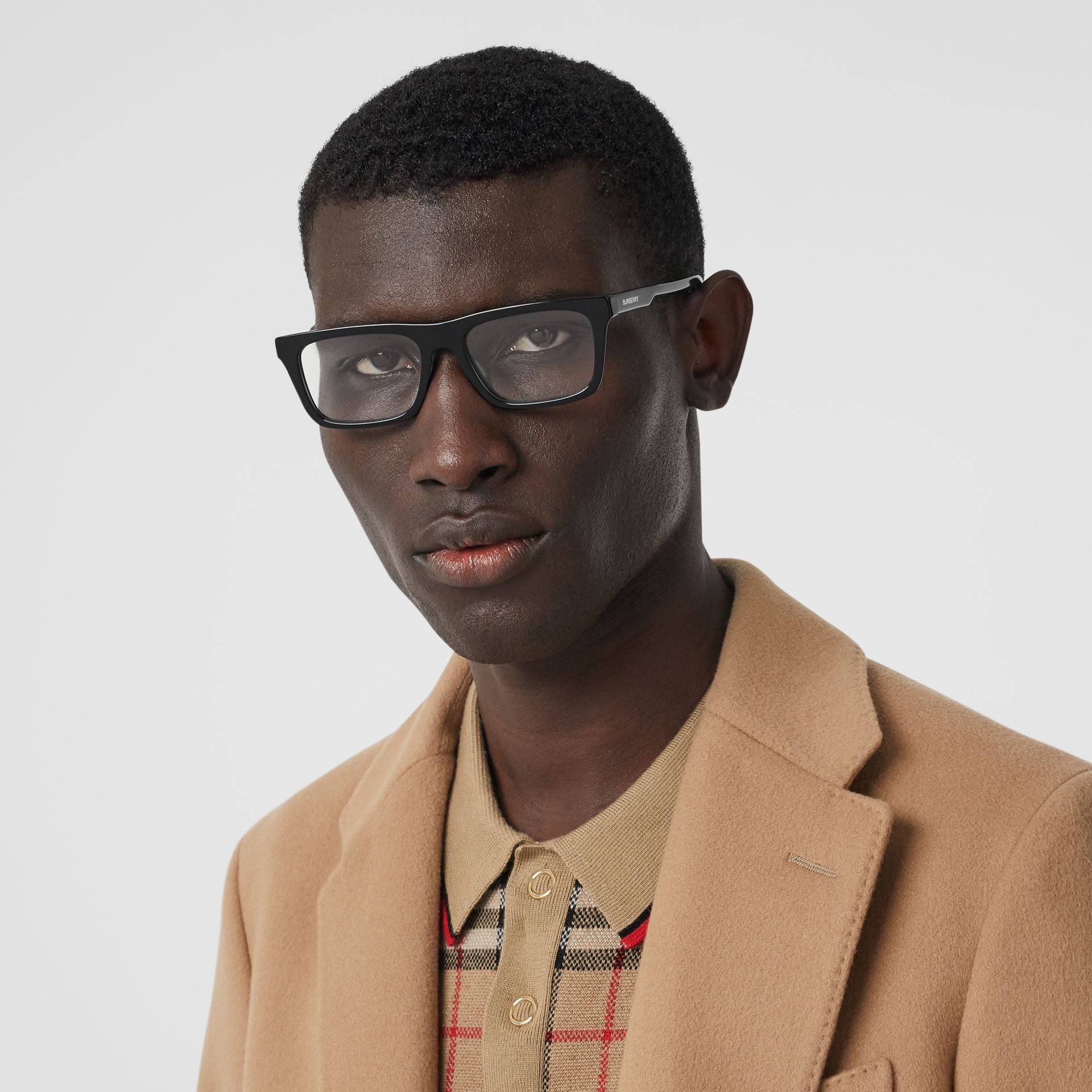 Rectangular Optical Frames in Black - Men | Burberry - gallery image 2