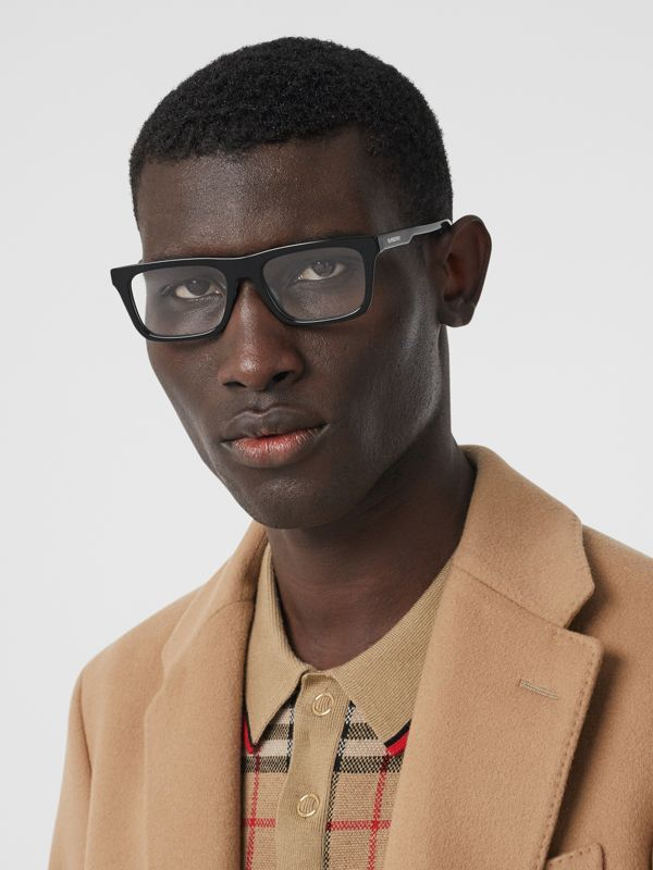 Rectangular Optical Frames in Black - Men | Burberry United Kingdom - cell image 2