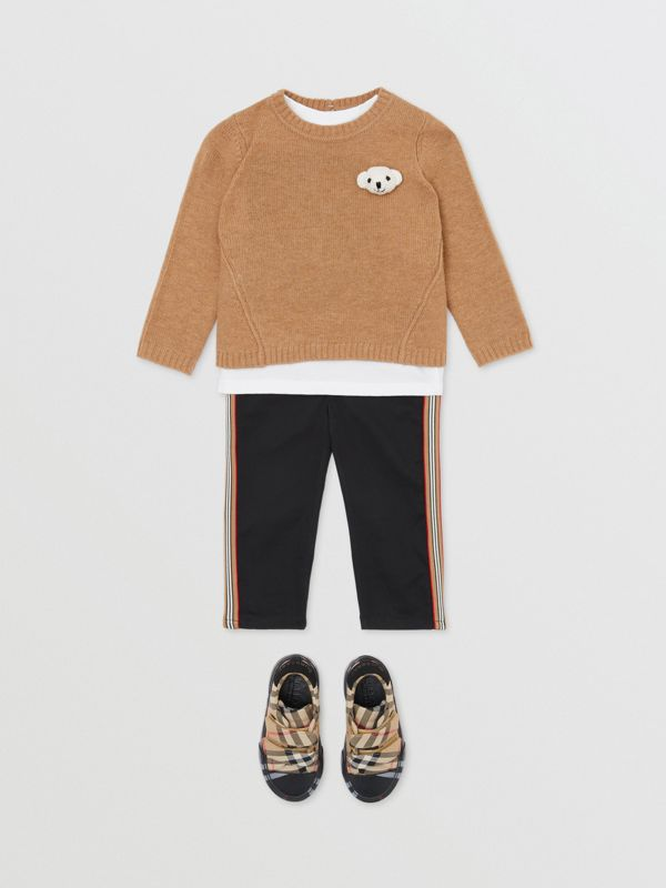 Thomas Bear Detail Wool Cashmere Sweater in Camel - Children | Burberry - cell image 3