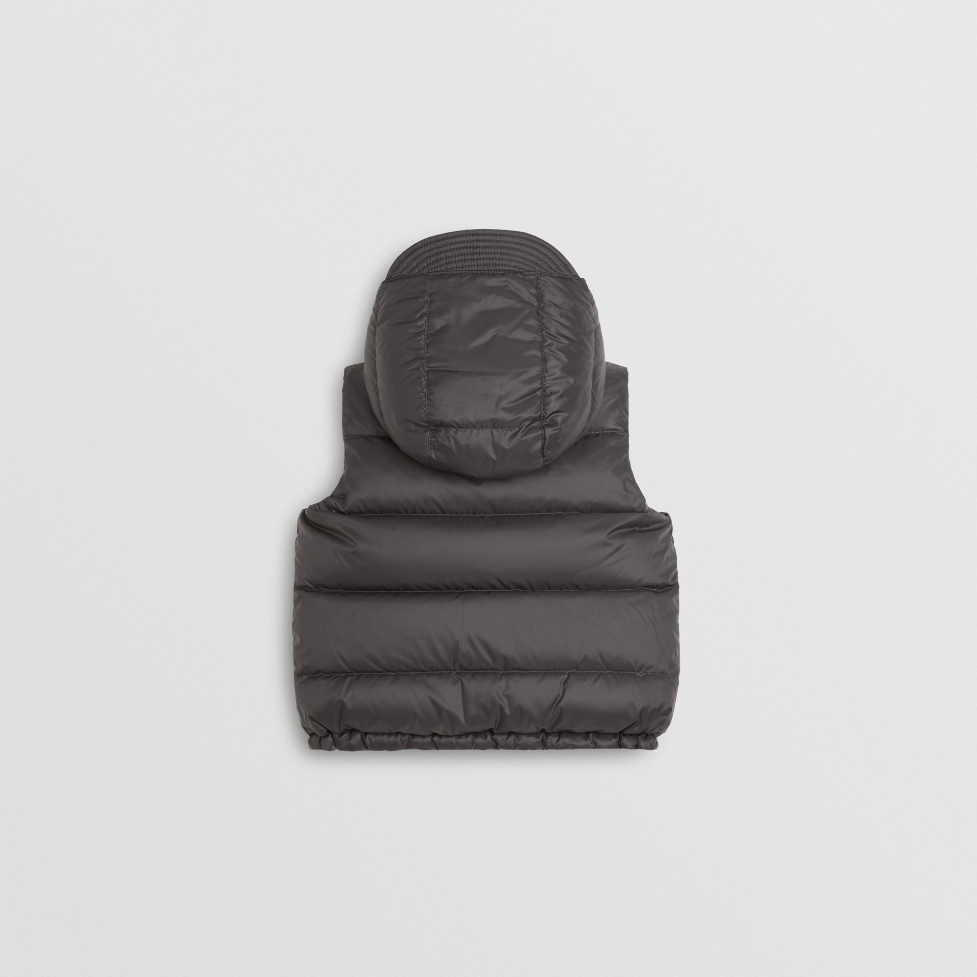 Reversible Showerproof Down-filled Hooded Gilet in Dark Grey | Burberry United Kingdom - gallery image 4