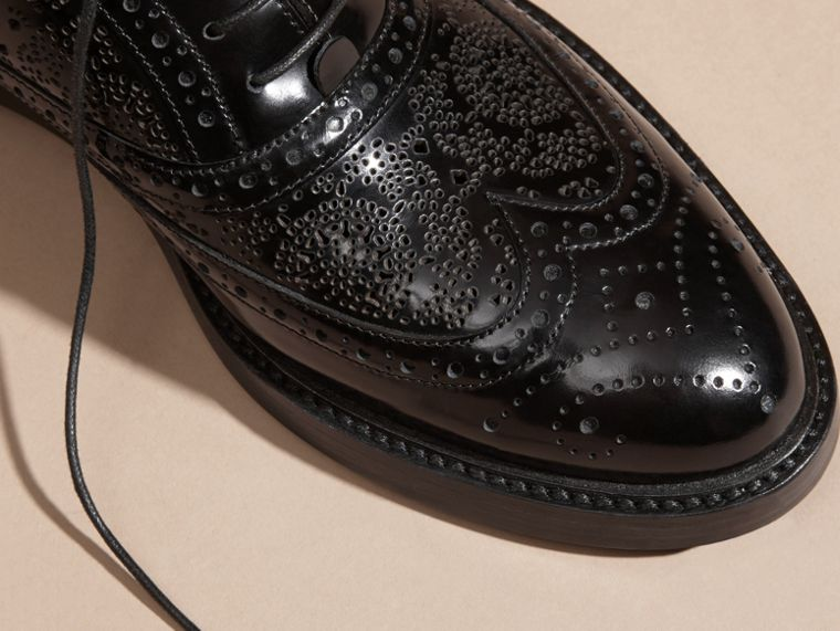 Black Leather Wingtip Brogues - cell image 1