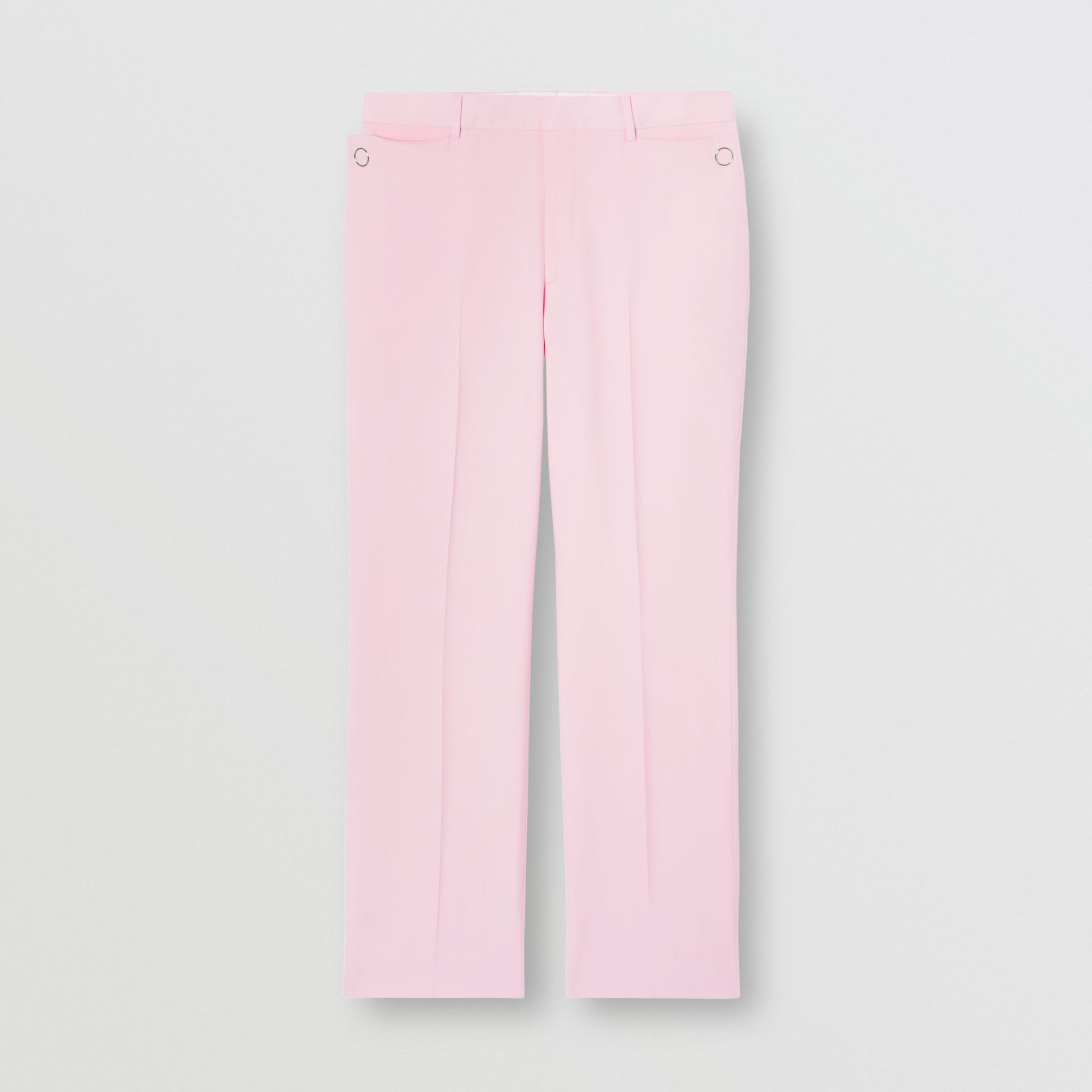 Tumbled Wool Wide-leg Tailored Trousers in Candy Pink - Men | Burberry - gallery image 3