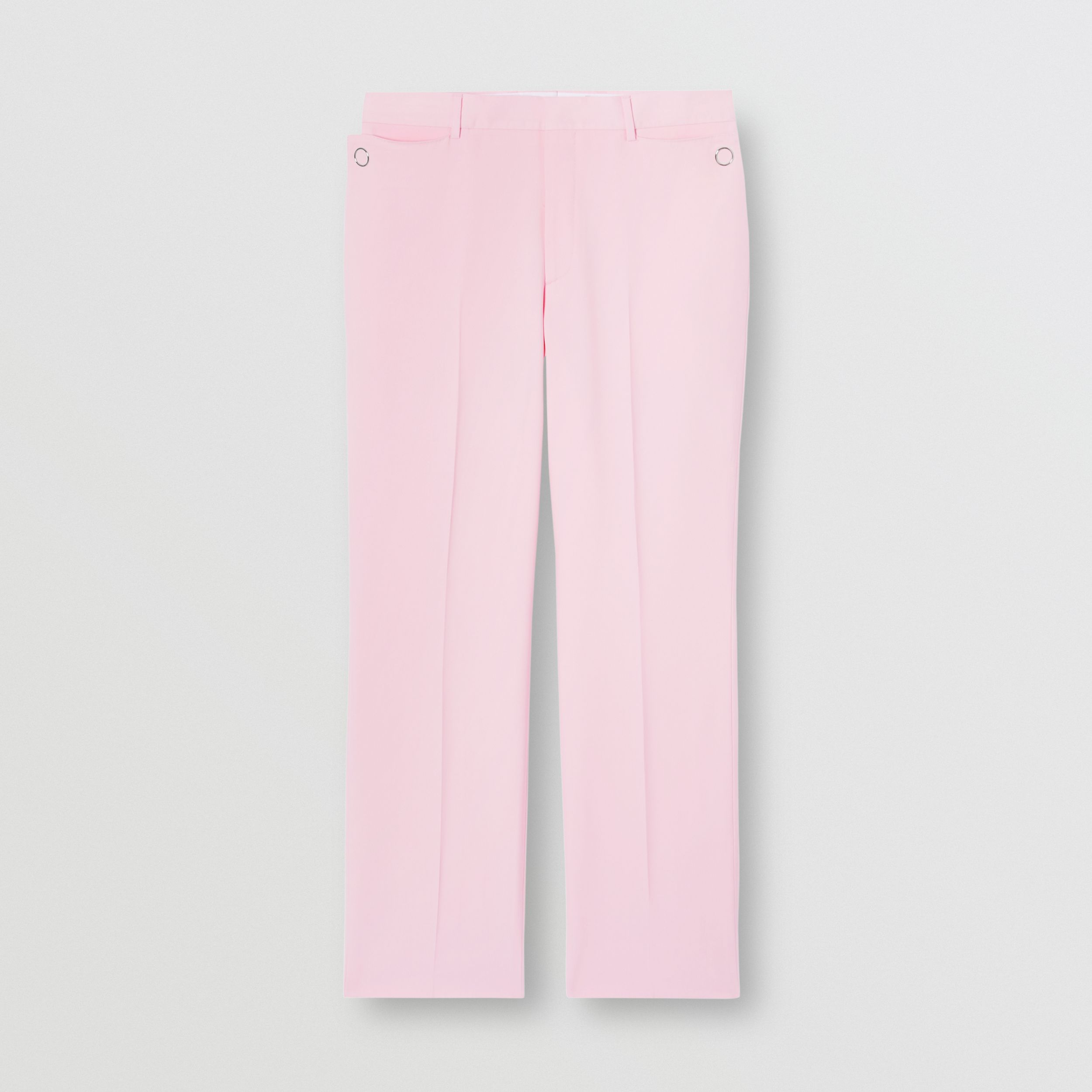 Tumbled Wool Wide-leg Tailored Trousers in Candy Pink - Men | Burberry Hong Kong S.A.R - 4