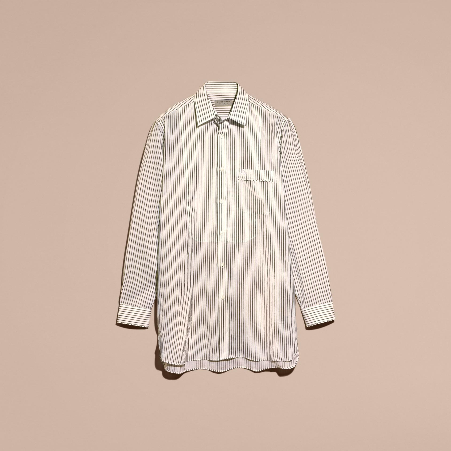 Striped Cotton Poplin Shirt - gallery image 4