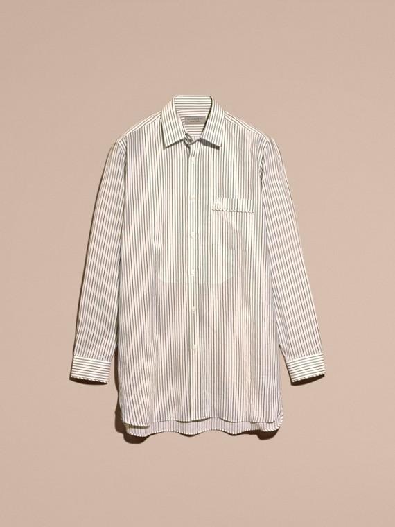 Striped Cotton Poplin Shirt - cell image 3