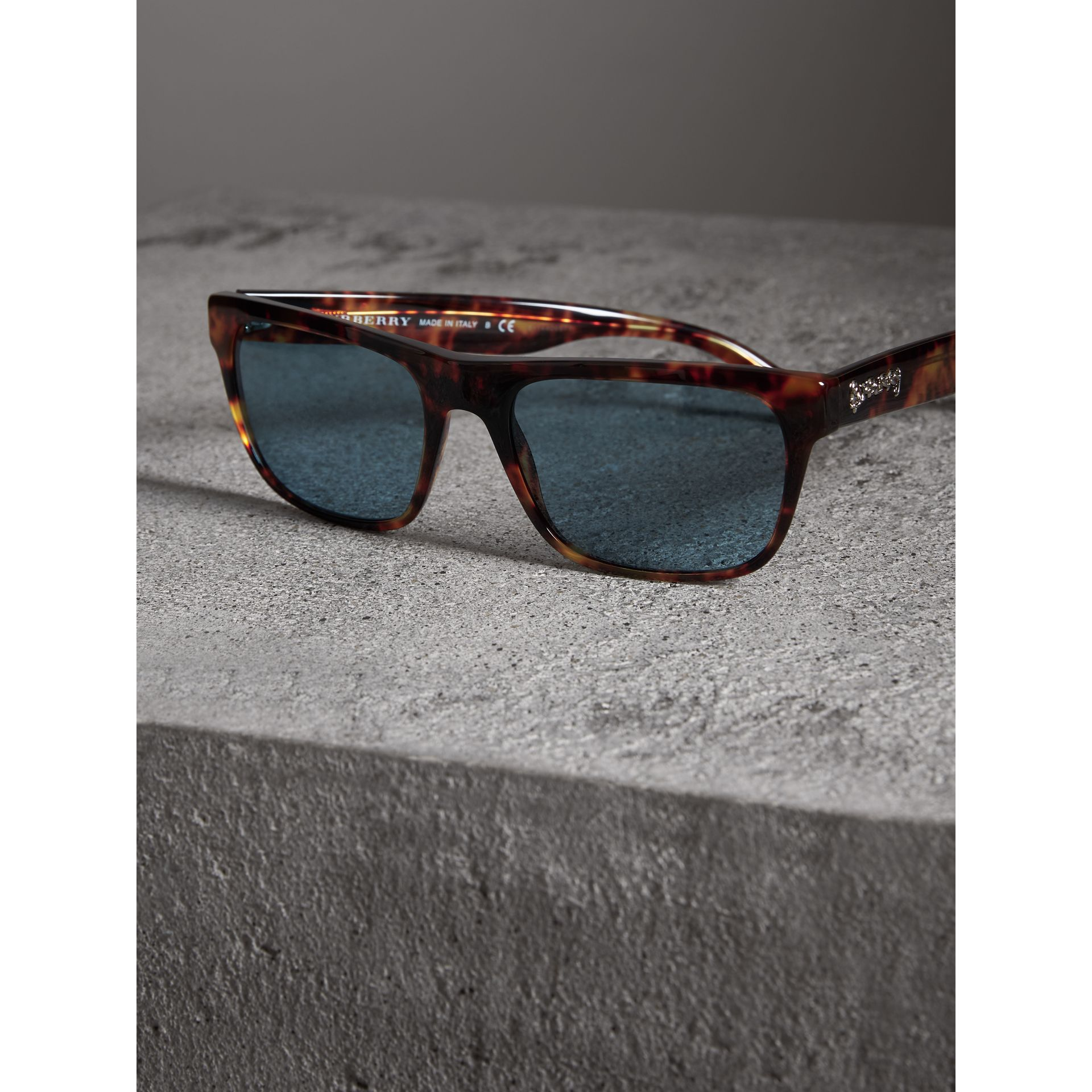 Doodle Square Frame Sunglasses in Brown - Men | Burberry United Kingdom - gallery image 2