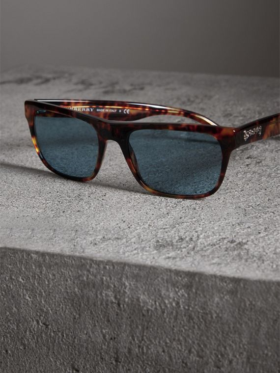 Doodle Square Frame Sunglasses in Brown - Men | Burberry - cell image 2