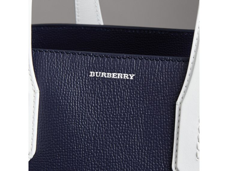 The Medium Banner in Two-tone Leather in Regency Blue/chalk White - Women | Burberry - cell image 1