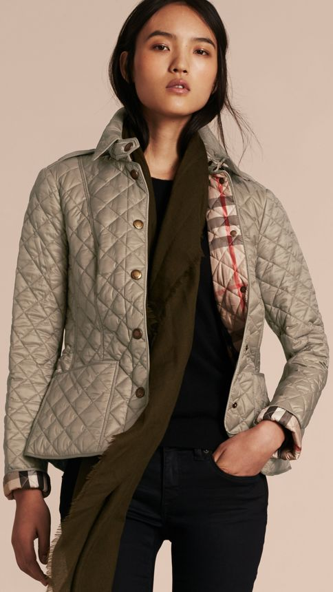 Pale fawn Diamond Quilted Jacket Pale Fawn - Image 6