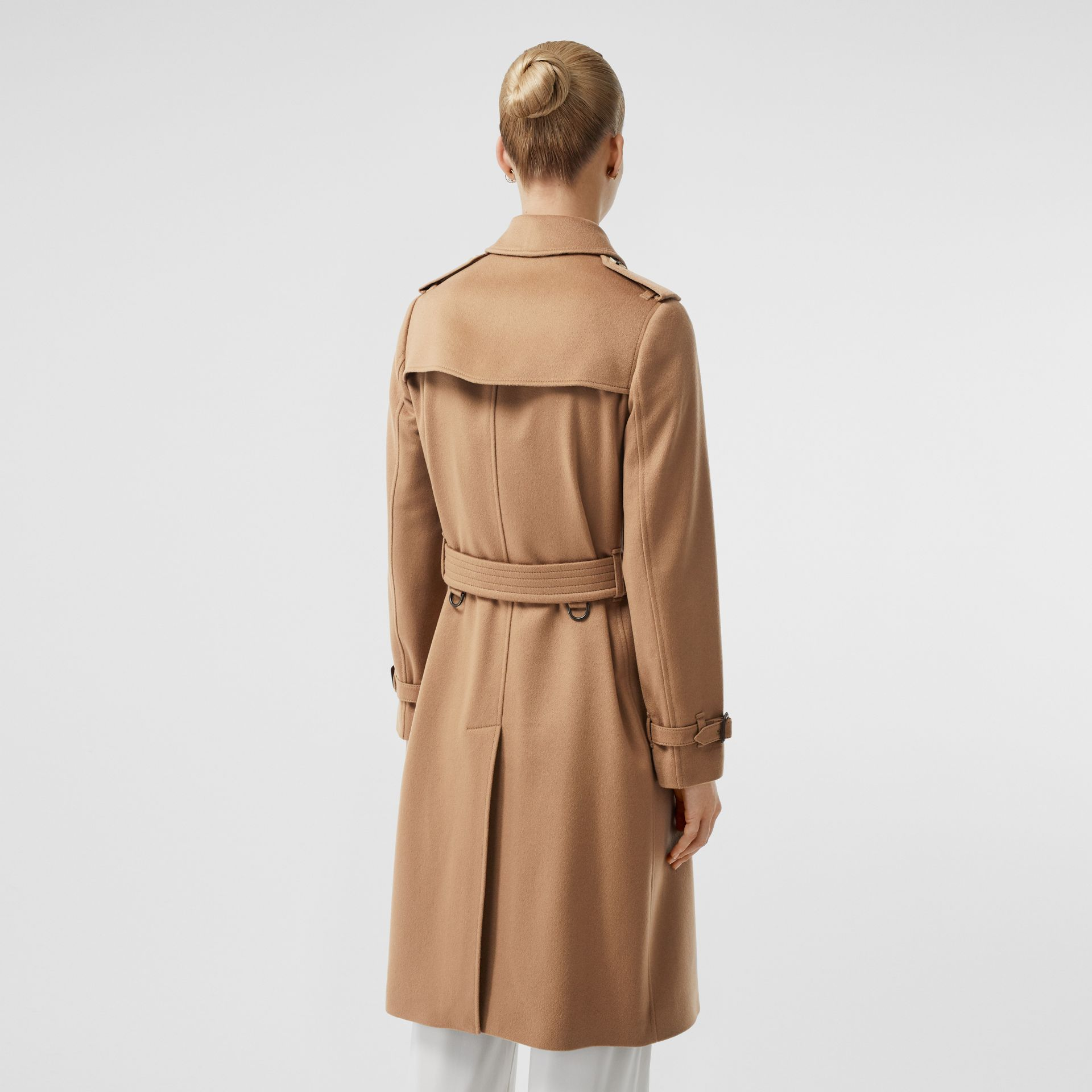 Cashmere Trench Coat in Mid Camel - Women | Burberry - gallery image 2