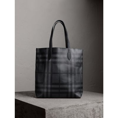 2f5361afadfb BURBERRY Medium London Check And Leather Tote