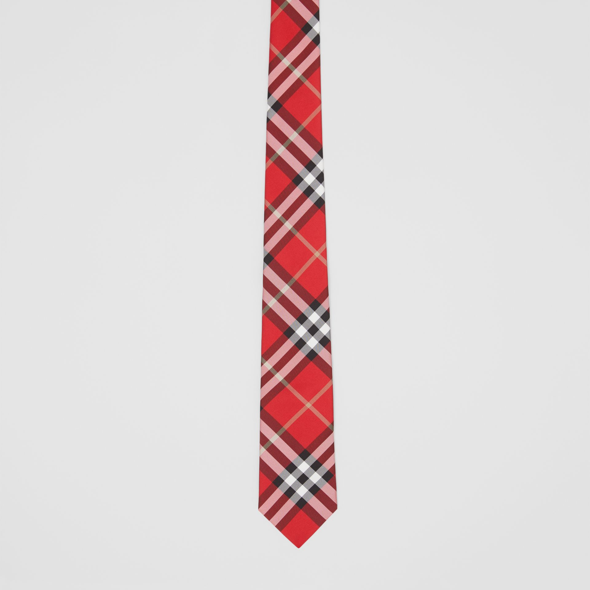 Classic Cut Vintage Check Silk Tie in Red - Men | Burberry - gallery image 3