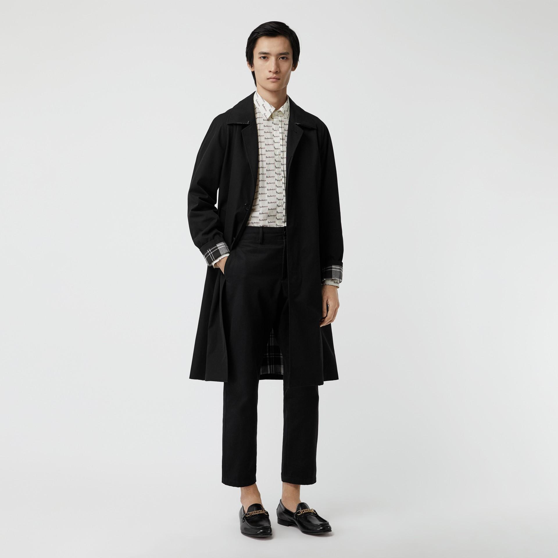 Chemise en coton avec logo imprimé (Blanc) - Homme | Burberry Canada - photo de la galerie 4
