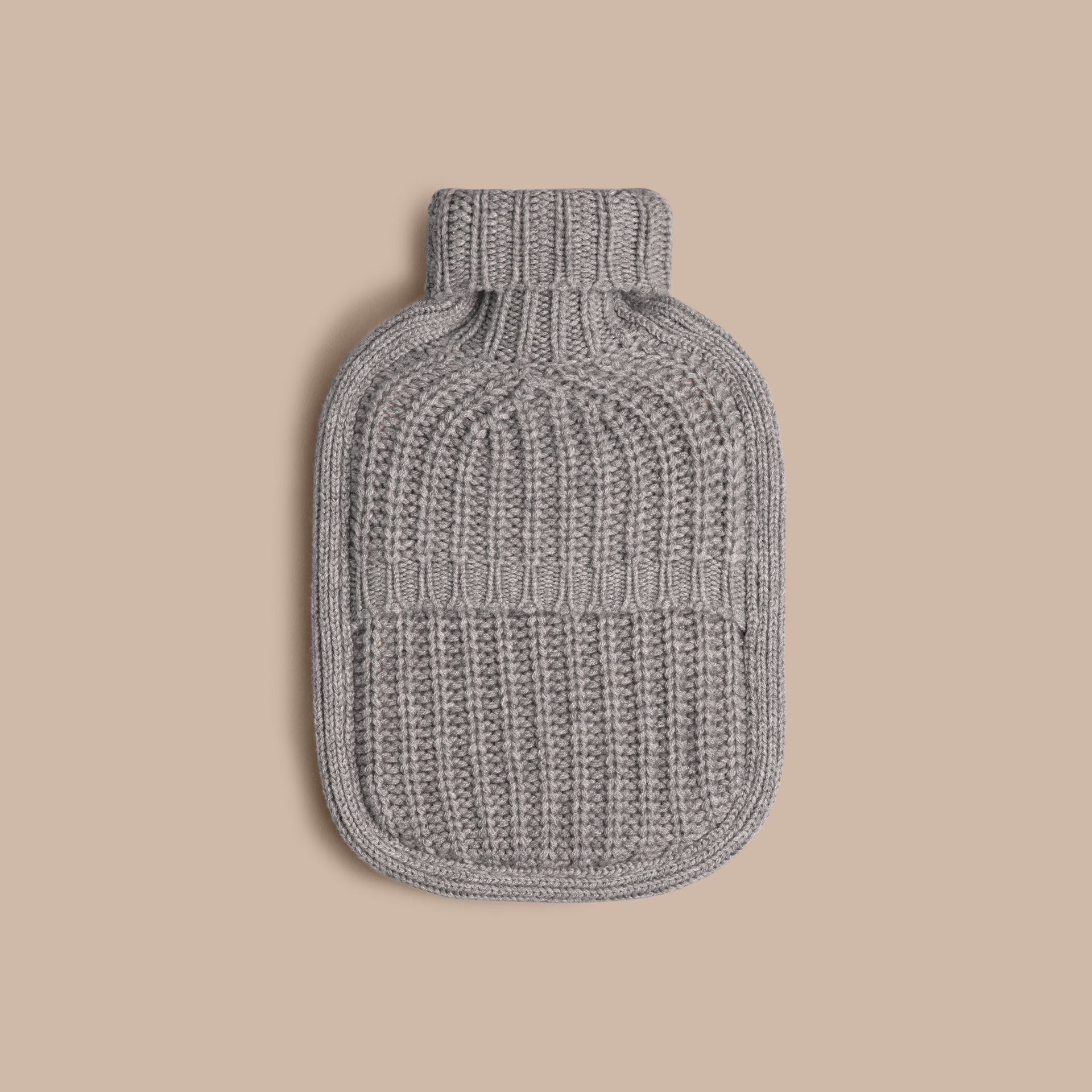 Light grey melange Cashmere Hot Water Bottle Cover Light Grey Melange - gallery image 2