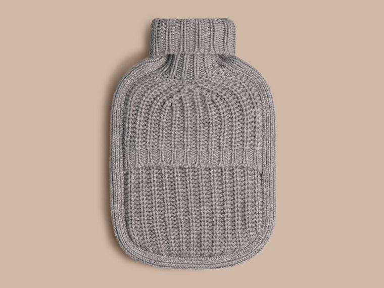 Light grey melange Cashmere Hot Water Bottle Cover Light Grey Melange - cell image 1