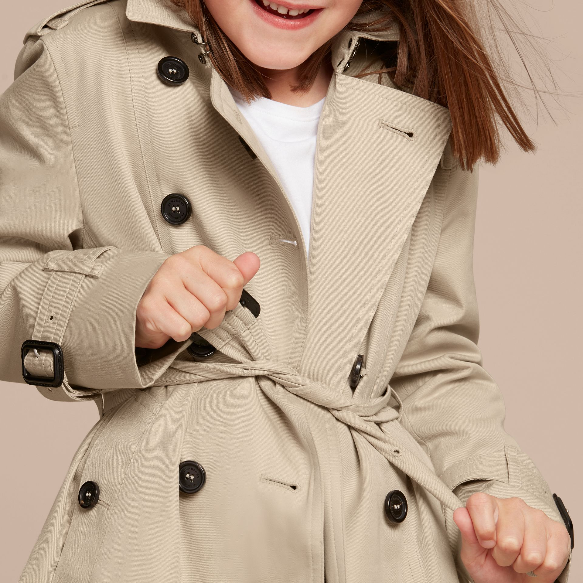 The Sandringham – Heritage Trench Coat in Stone - Girl | Burberry - gallery image 6