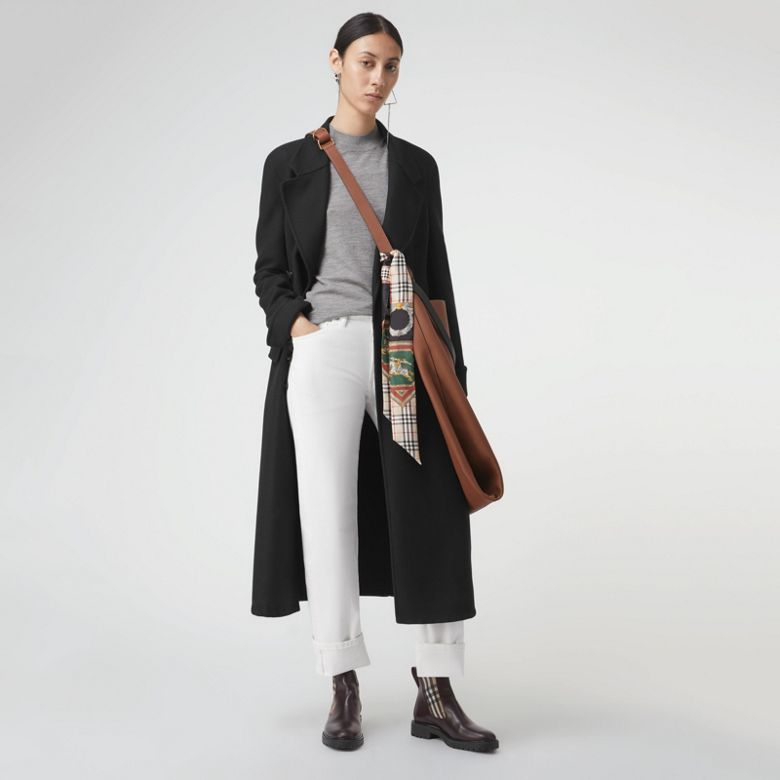 Burberry - Pull à col ras du cou en laine mérinos - 5