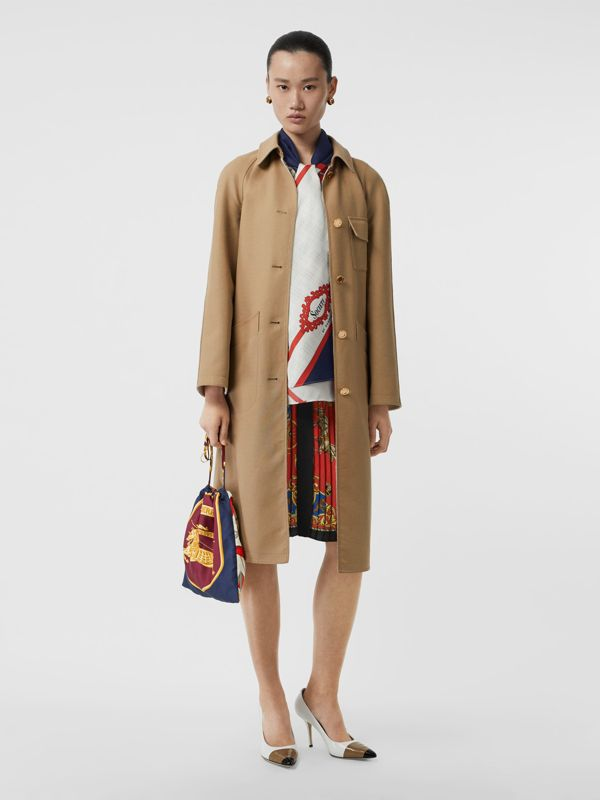 Archive Scarf Print Silk Pouch in Military Red/burgundy - Women | Burberry Canada - cell image 2