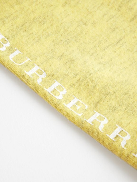 Logo Print Stretch Jersey Leggings in Citrus Yellow - Children | Burberry - cell image 1