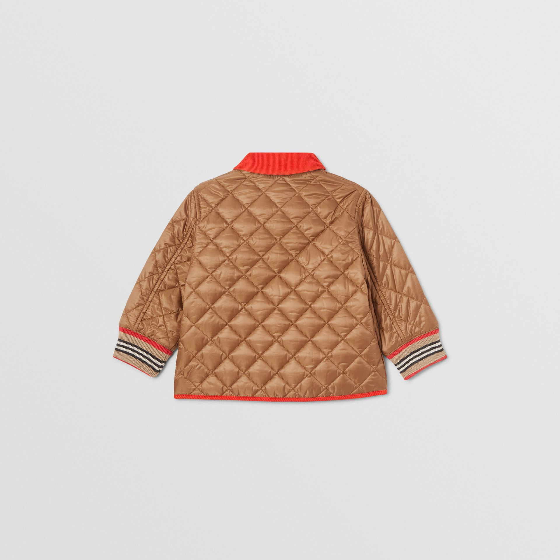 Corduroy Trim Lightweight Diamond Quilted Jacket in Bronze - Children | Burberry United Kingdom - gallery image 4