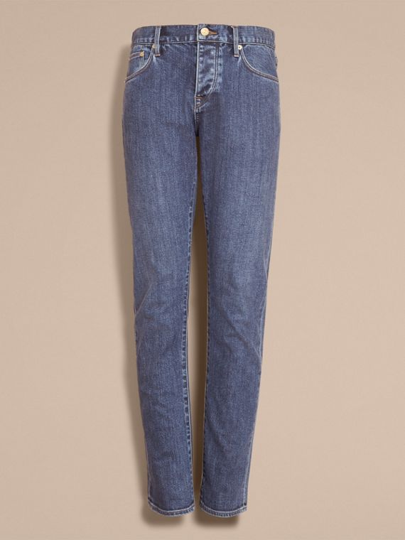 Straight Fit Stretch Japanese Denim Jeans - cell image 3