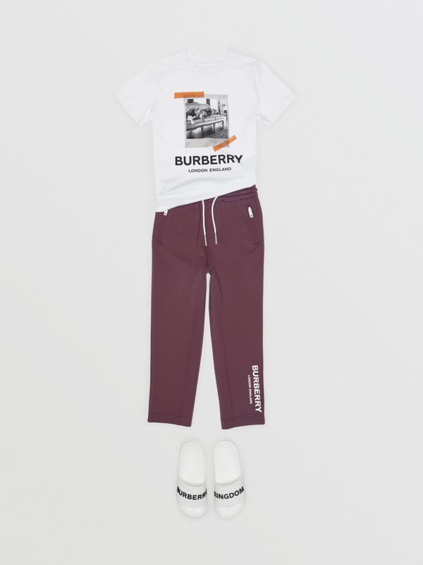 Vintage Polaroid Print Cotton T-shirt in White | Burberry - cell image 2