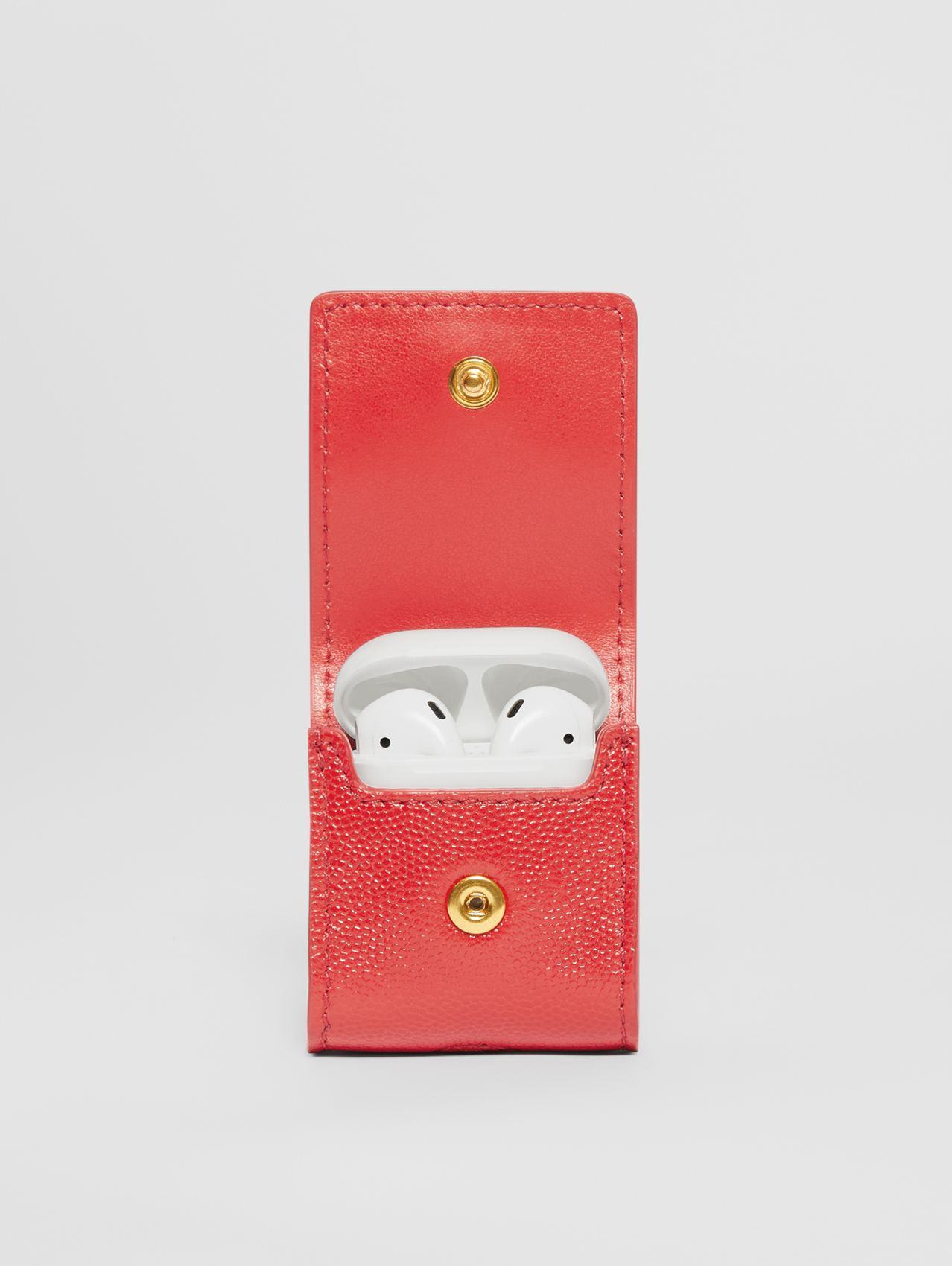 Grainy Leather AirPods Case in Bright Red
