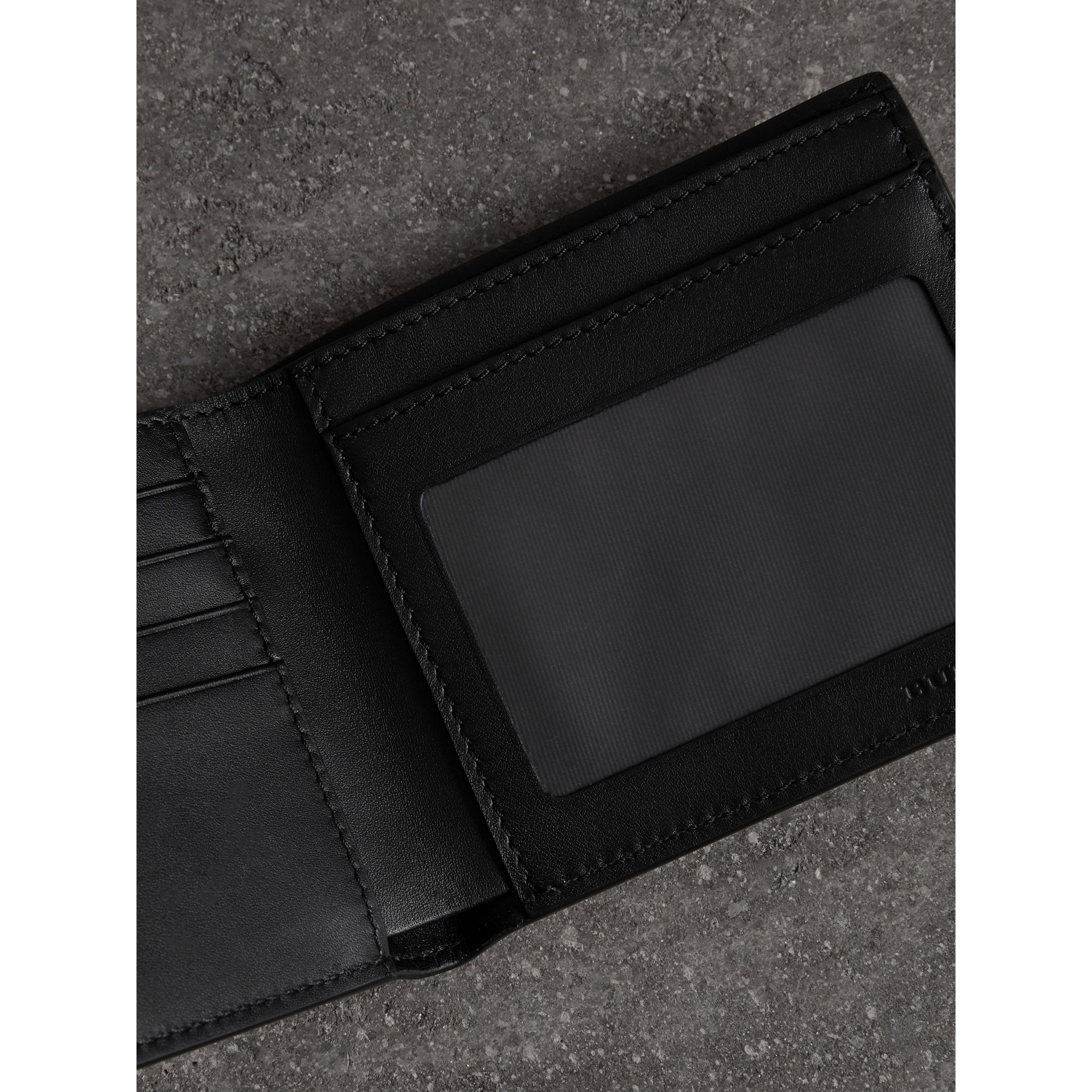 Vintage Check Leather ID Wallet in Black - Men | Burberry United States - gallery image 3