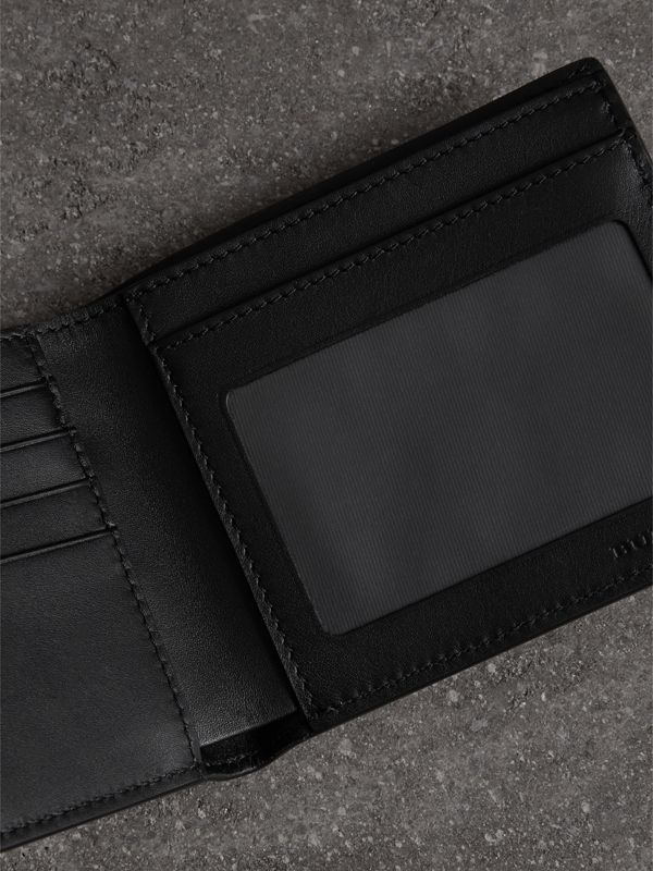 Vintage Check Leather ID Wallet in Black - Men | Burberry United States - cell image 3