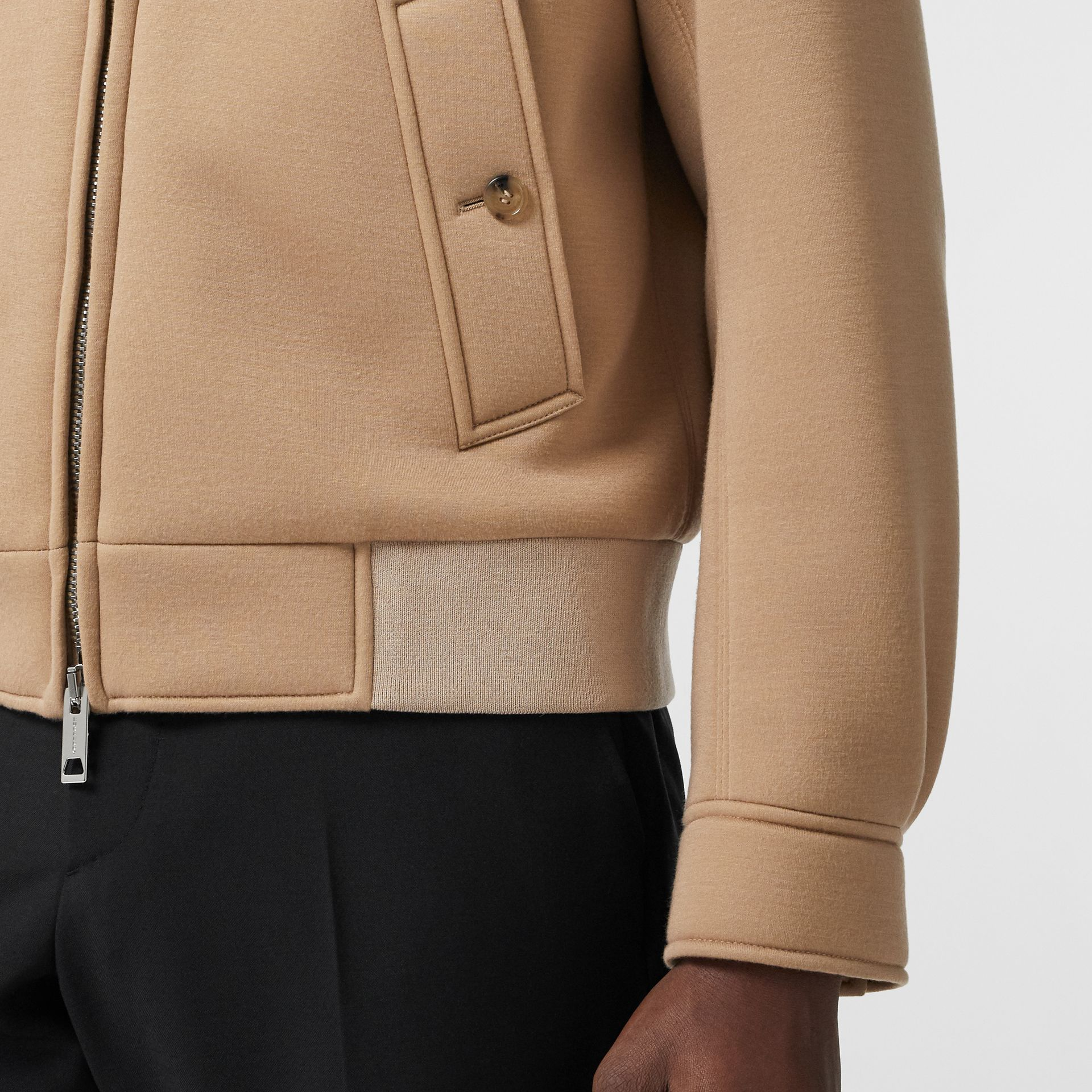 Neoprene Harrington Jacket in Beige | Burberry - gallery image 4