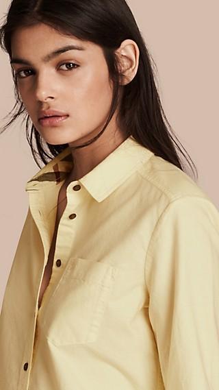 Chemise en coton avec motif check