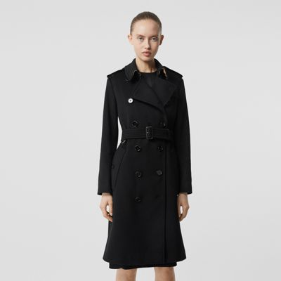 Cashmere Trench Coat in Black Women | Burberry