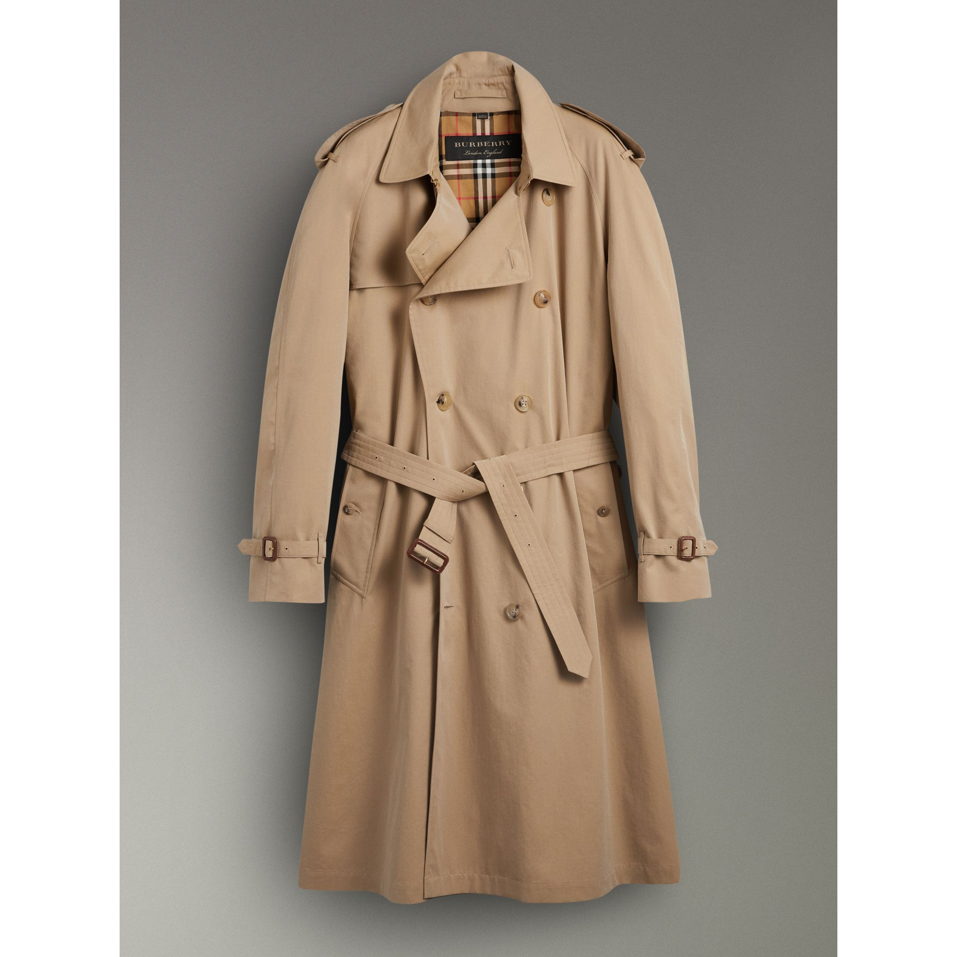 Trench en gabardine tropicale (Miel) | Burberry - photo de la galerie 3