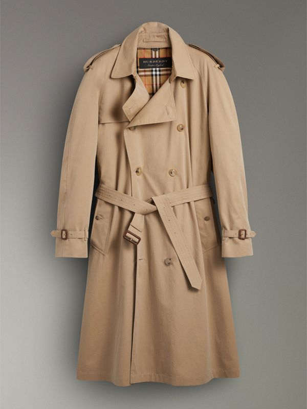 Trench coat en algodón de gabardina tropical (Miel) | Burberry - cell image 3
