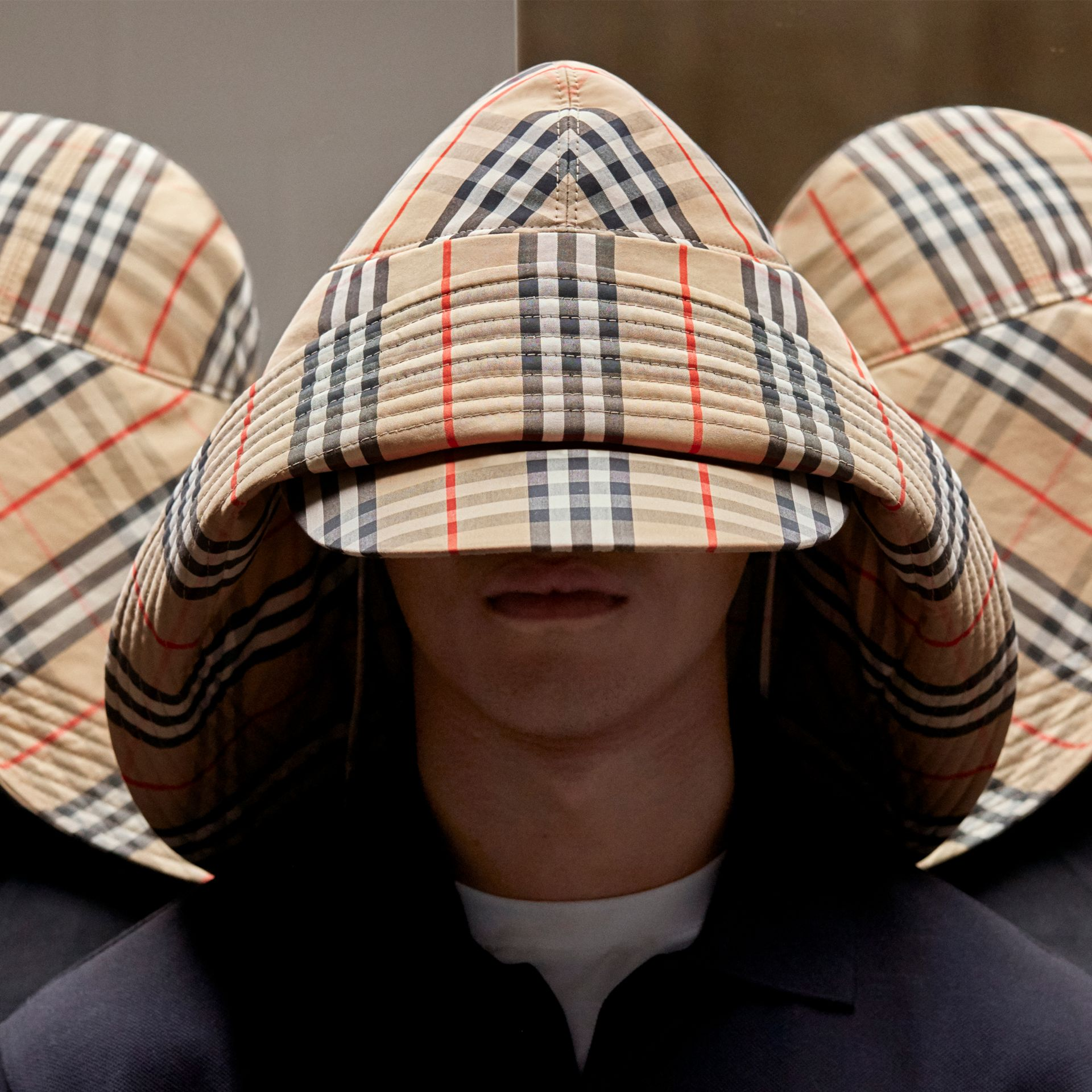 Vintage Check Rain Hat in Archive Beige - Men | Burberry - gallery image 1