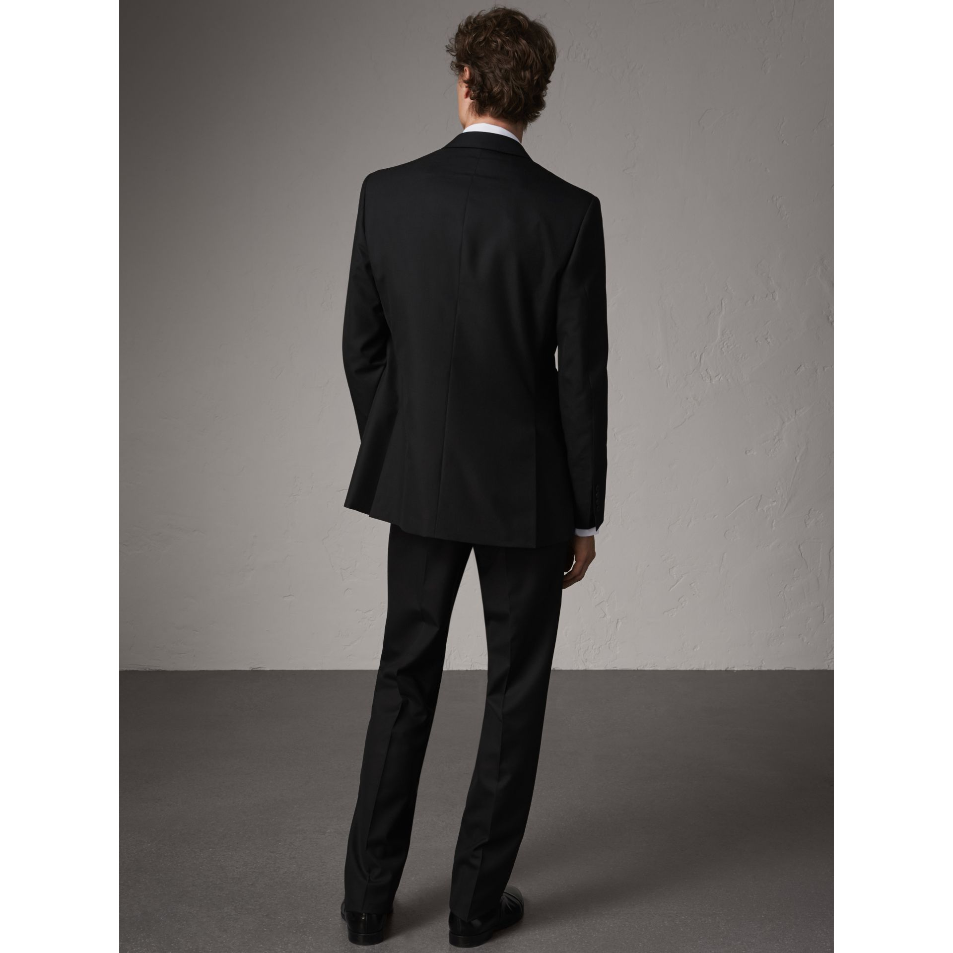 Classic Fit Wool Part-canvas Suit in Black - Men | Burberry - gallery image 3